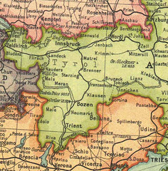 mappa Grosvenor 1914 (PORTOBESENO) Tags: tirol map maps tyrol tirolo storico