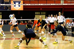 Ready to dig (RPahre) Tags: adejalambert universityofillinois champaign illinois universityofmichigan huffhall huff volleyball robertpahrephotography copyrighted donotusewithoutwrittenpermission