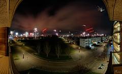 Oudejaarsvuurwerk panorama 2014-2015 vanaf mijn balkon  /  New Year Fireworks panorama 2014-2015 from my balcony (PortSite) Tags: new panorama holland netherlands night nikon nacht year nederland firework nieuwjaar paysbas vuurwerk denhelder 2015 荷兰 portsite d3s