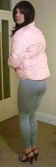 pink schoolie (charlotteyorkscd) Tags: pink tv cd makeup sissy transvestite mascara lipstick brunette schoolgirl crossdresser slutty leggings eyeliner pinklipstick jailbait schoolie