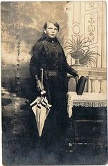 Old photograph of my great grandmother (krullie255) Tags: old portrait beautiful fashion vintage found grandmother martha antique great style collection photograph late 1910 past edwardian geneology elegance claerbout