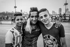 Friends at Qasr al-Nil Bridge (Morten Guttorm) Tags: friends blackandwhite eid egypt cairo qasralnilbridge sonyrx100
