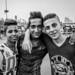 Friends at Qasr al-Nil Bridge