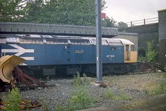 """Withdrawn 47 513. previously naked """"Seven"""" (372Paul) Tags: station electric diesel crewe ac stephenson englishelectric class90 class47 class37 class60 class87 87101"""