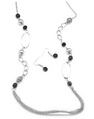 5th Avenue Black Necklace K4 P2140-2