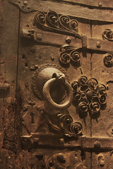 The Way In (lefeber) Tags: door wood nyc newyorkcity newyork architecture ancient iron lock interior ring worn swirls artmuseum themet metropolitanmuseumofart scrolls weatherd strapping doorpull
