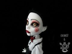 Jillian Kramer (saijanide) Tags: monster dark saw high mod doll artist ooak gothic goth creepy jillian custom commission kramer collaboration repaint reroot saijanide chunk07
