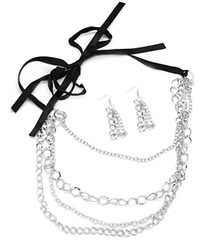 5th Avenue Black Necklace P2110A-4