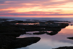 Looking Within (Iga Supernak) Tags: ocean california pink light sunset sea sky orange usa sunlight mist seascape west reflection texture beach nature water b