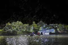 Tamcoc Lake III  ~ Vietnam (Sandipa Malakar (bristii)) Tags: lake landscape boat asia paddy hills vietnam caves greenery ricefield boatman boatride canon1740l limestonehills easternasia canon60d longcanal hang2 hang3 hangca tamcoclake