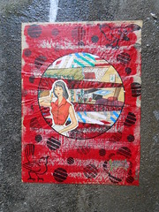 Paris_Avril 2016 (10) (Mademoiselle Berthelot - BricoLLeuse) Tags: streetart paris pasteup collage paint passages bubbles rue bastille rubberstamps oldmagazines urbain