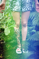 film (La fille renne) Tags: woman plants film nature tattoo analog ink 35mm model colorful legs skin faceless ferns canonae1program 50mmf18 lafillerenne helloimwild alterlogue philicophyta alterloguesirena
