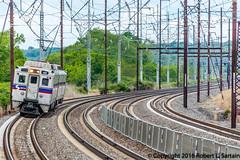 SEPTA 441 on 214, Claymont, 2016-05-22 (redheadedrobbie1) Tags: railroad electric amtrak commuter passenger septa mu railfan nec northeastcorridor regionalrail claymont silverliner silverlineriv