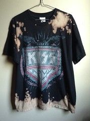 One of a Kind Splatter Bleached Kiss Army T Shirt (shopthegasstation) Tags: ladies girls music black rock shirt altered army clothing kiss tour graphic top grunge group band bleach tshirt guys womens gasstation clothes mens jersey etsy dye genesimmons tee unisex destroyed splatter bleached dyed splattered