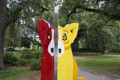 Corgi's of color (jasonlttl) Tags: nola sculpturegarden