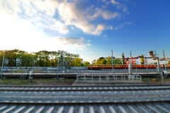 123/366 - Nice sunny day... (Sinuh Bravo Photography) Tags: sky berlin canon miniature outdoor railway sbahn charlottenburg tiltshift ayearinphotos eos7d potd2016