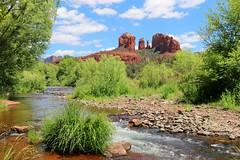 Red Rock Crossing (kimpossible pics) Tags: statepark trees arizona nature water creek river landscape outdoors desert wildlife sedona arizonadesert oakcreek redrockcrossing crescentmoonranch redrockcrossingstatepark