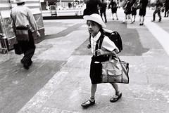 School kid (Jiajun Yang) Tags: street bw film blackwhite kodak trix streetphotography nikonfe monochrone