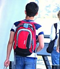 (ManontheStreet2day) Tags: boy ass butt twink jeans backpack bluejeans