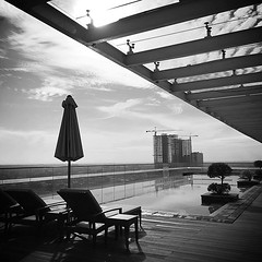 Chilling out | #iphonesia #iphoneonly #iphone6plus... (jen_journal) Tags: travel blackandwhite monochrome indonesia hotel swimmingpool leisure bnw medan jwmarriotthotel monoart iphoneography iphoneonly iphonesia instadaily instagramhub uploaded:by=flickstagram iphone6plus instagram:photo=8778868723290404751047475