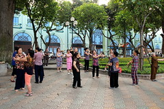 Tai chi by the lake (Bex.Walton) Tags: travel vietnam hanoi taichi hoankiemlake oldquarter