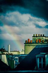 Hope (Calinore) Tags: city roof paris architecture rainbow ville arcenciel toits francee