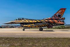 F-16C Fighting Falcon, Turkish Air Force, Tigermeet 2016, Zaragoza, Spain (harrison-green) Tags: canon airplane spain force outdoor aircraft aviation air tiger jet fast sigma zaragoza falcon take vehicle fighting meet turkish 2016 afterburner f16c reheat 700d 150500mm o0ff