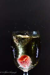 Raspberry & Ginger Ale 3 (Wolfhunte Photography) Tags: glass led raspberry splash gingerale greybackground 20160522