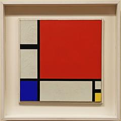 "149 - Kunsthaus Zrich (CH) - Piet MONDRIAN 1872 - 1944 "" Composition rouge, bleu, jaune "" (Lumire-du-matin) Tags: canon kunsthaus peinture zrich mondrian 6d pietmondrian"