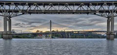 three-in-a-row (inducedchaos.com) Tags: photography bridges portlandoregon willametteriver hdr travelphotography landscapephotography hdrphotography
