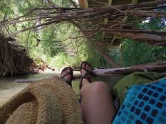I found the perfect spot to chill (EllenJo) Tags: arizona river pentax tube raft verderiver riparian sundayafternoon june5 clarkdale 2016 ellenjo summerinarizona ellenjoroberts tuzigootbridge tuzirap pentaxqs1 cruisingdowntheriveronasundayafternoon