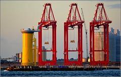 Wind Farm Turbine Base,River Mersey Liverpool 1st June 2016 (Cassini2008) Tags: liverpool rivermersey portofliverpool zpmc cammellairds windfarmturbines liverpool2deepwatercontainerterminal
