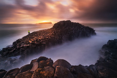 Fingal Fishing (Dylan Toh) Tags: goldcoast queensland australia australian charlotte dawn dreamworld everlook fingalhead giantscauseway jaime landscape newsouthwales photographer photography seascape sunrise