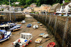 Float My Boat ..... (acwills2014) Tags: lynmouth devon harbour quayside picturesque boats seabed lowwater moorings harbourside