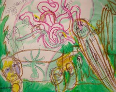 The Arms Of The Polypus (giveawayboy) Tags: art pen painting tampa sketch paint artist acrylic arms drawing scifi novel sciencefiction crayon hydra weave serpents lafferty fch giveawayboy billrogers polypus ralafferty raphaelaloysiuslafferty fourthmansions
