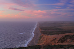Point Reyes Evening (fksr) Tags: evening dusk pinkclouds tenmilebeach pointreyesnationalseashore dunes ocean landscape marincounty california