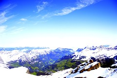 on top! (shreyak25) Tags: light vacation sun sunlight mountains ice nature bright mountais switzeland