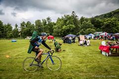 Cyclist Homeward Bound (FotoFling Scotland) Tags: scotland cyclist argyll event lochlomond highlandgames luss tug0war lusshighlandgames lussgathering