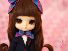 Little Spring (Malina (LaelP)) Tags: pastel hair brown uniform school dress ribbon puppe mueca poupe podo yeolume pullup daughter little spring xiao chun chinese cute girl doll groove