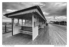 Shelter on the Pier (Brian-Leach) Tags: southport pier merseyside lancashire coast shelter tram lines victorian