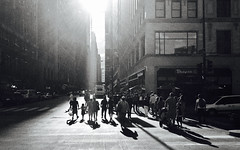 Chicago, 2016 (gregorywass) Tags: people street chicago sunset bw monochrome walking crowd group august 2016 leaving downtown city