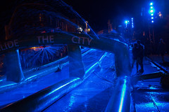 "Saguenay - ""SLIDE THE CITY"" / GLISSE EN VILLE (BLEUnord) Tags: saguenay chicoutimi rueracine rue street racine cte glisse glissade slide sliding urbain urban t summer estival nuit night extrieur exterior eau water"