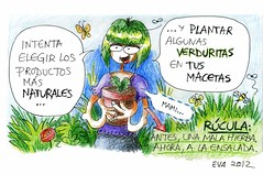 Comiditas A 03 (elbuzonamarillo) Tags: nutricin diettica comer intentar elegir producto natural plantar verdura verdurita maceta mami madre rcula antes mala hierba ahora ensalada mariposa abeja mosca rosa flor