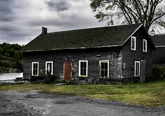 Vacant Building (G. Maxwell) Tags: 2016 abandonedbuildings clouds em1 oldbuildings structures olym1240mmf28 olympus killarney ontario zuiko