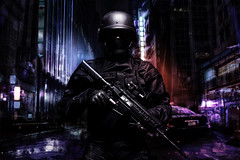 Spec ops police officer (getmilitaryphotos) Tags: swat police army military war soldier officer us cop policeman special forces american gi warfare operator weapons nato tactical tactics rifle uniform infantry mask armed task force spec ops sniper ranger commando firearms gun armor white anti terror assault vest studio counter terrorism freehand art painting artwork drawing collage