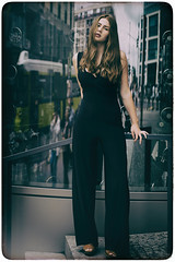 Cosmopolitan (fehlfarben_bine) Tags: berlin friedrichstrase urban reflections fullbody woman portrait nikondf 240700mmf28 fac