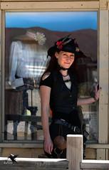 Steampunk Beautiful Woman 767 (thePhotographerRaVen) Tags: steampunk tucson oldtucson arizona wwwc wwwc5 wildwest hat fantasy photosbyraven