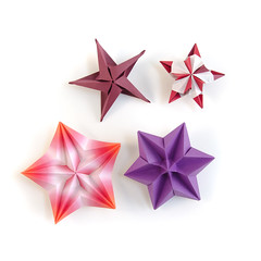 More little stars (_Ekaterina) Tags: origami star stars paper paperfolding tant harmony red violet ekaterinalukasheva unitorigami modularorigami