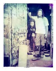 Marriah and Quincy at The Stork Club (2812 photography) Tags: polaroidlandcamera california portrait haveadrink peterrosos utata:project=godrinking fujifimfp100c utata:entry=3 eastbay instantfilm localbar negativereclamation analog film