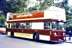 Slide 078-79 (Steve Guess) Tags: cardiff wales gb uk bus rally event municipal centenary tramways open top topper livery topless